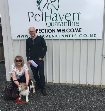 Basil going home after quarantine in Auckland New Zealand